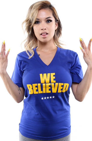 We Believed (Women's Royal V-Neck)