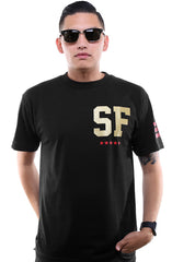 Gold Blooded Legends :: 16 (Men's Black/Gold Tee)