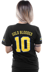 Gold Blooded Royalty :: 10 (Women's Black V-Neck)