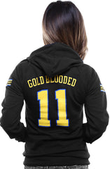 Gold Blooded Royalty :: 11 (Women's Black Hoody)