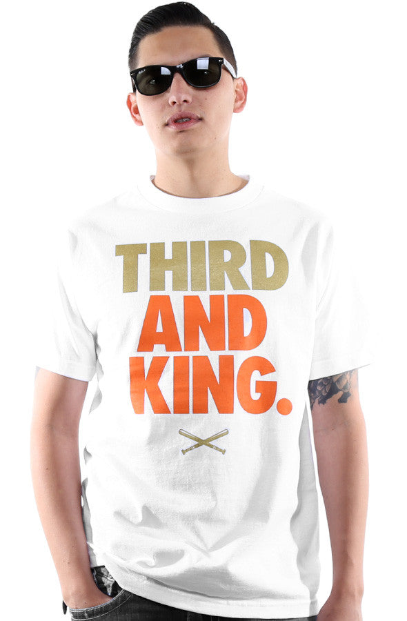 Third and King (Men's White Tee)