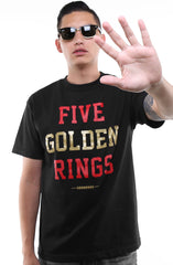 Five Golden Rings (Men's Black Tee)