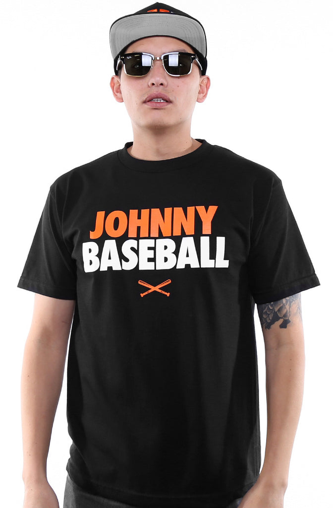 Johnny Baseball (Men's Black Tee)