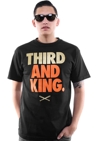 Third and King (Men's Black Tee)