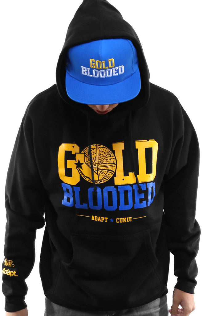 Cukui X Adapt :: Gold Blooded Tribal (Men's Black/Royal Hoody)