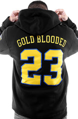 Gold Blooded Royalty :: 23 (Men's Black Hoody)