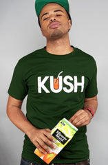 Kush x OJ (Men's Dark Green Tee)