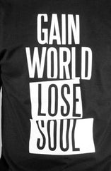 Gain World (Men's Black Tee)