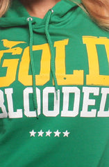 GOLD BLOODED Women's Green Hoody