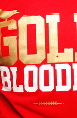 Gold Blooded (Men's Red/Gold Tee)