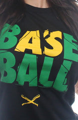 Baseball (Women's Black Tee)