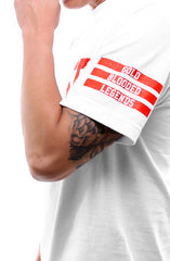 Gold Blooded Legends :: 8 (Men's White Tee)