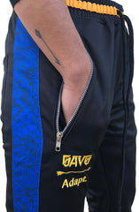SAVS x Adapt :: Gold Blooded Chiefs (Men's Black/Royal Track Pants)
