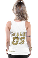 Breezy Excursion X Adapt :: Down To Ride GOLD Edition (Bonnie) (Women's White Tank Top)