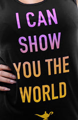 I Can Show You The World (Women's Black Tank Top)