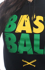 Baseball (Women's Black Hoody)
