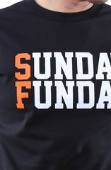 Sunday Funday (Men's Black/Orange Tee)