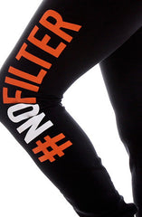 Equipto x Adapt :: No Filter (Women's Black/Orange Leggings)