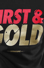 First and Gold (Men's Black Tee)