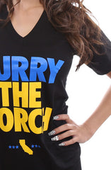 Curry The Torch (Women's Black V-Neck)