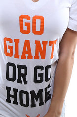 Go Giant (Women's White V-Neck)