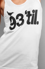 Hieroglyphics X Adapt :: 93 'til (Women's White Tank Top)