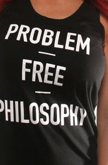 Problem Free (Women's Black Tank Top)