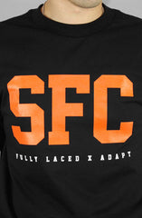 Fully Laced X Adapt :: SFC (Men's Black/Orange Tee)