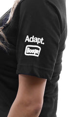 Booger Kids X Adapt :: 8-Bit Fin (Women's Black V-Neck)