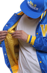GOLD BLOODED (Men's Royal Satin Jacket)