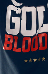 GOLD BLOODED Stars and Stripes Edition Men's Navy Tee