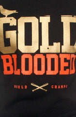 GOLD BLOODED World Champs Men's Black/Orange Tank