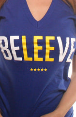 LAST CALL - Beleeve (Women's Royal V-Neck)