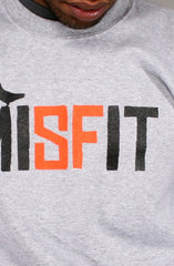 Misfit (Men's Heather/Orange Crewneck Sweatshirt)