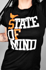 State of Mind (Women's Black/Orange Tee)