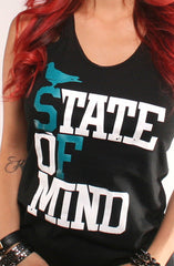 State of Mind (Women's Black/Teal Tank)