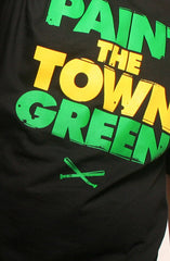Paint the Town Green (Men's Black Tee)