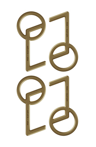 Aggregate x Adapt :: STEM (Brass Touch Tool 4-Pack)
