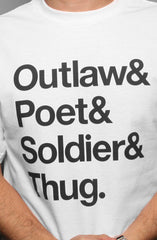 Outlaw (Men's White Tee)