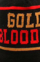Gold Blooded (Black Beanie)