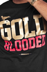Gold Blooded (Men's Black/Red Tee)