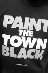 Paint the Town Black (Men's Black Hoody)