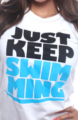 Keep Swimming (Women's White Tee)