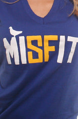 Misfit (Women's Royal V-Neck)