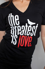 Great Love (Women's Black V-Neck)