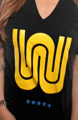 W (Women's Black V-Neck)