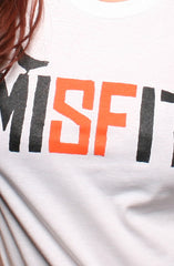 Misfit (Women's White/Orange Tee)
