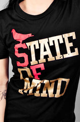 State of Mind (Women's Black/Red/Gold Tee)
