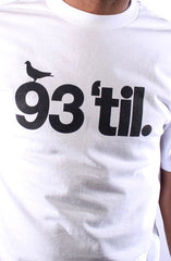 Hieroglyphics X Adapt :: 93 'til (Men's White Tee)