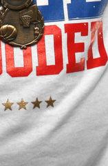 GOLD BLOODED Stars and Stripes Edition Men's White Tee